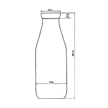 牛乳-500 透明
